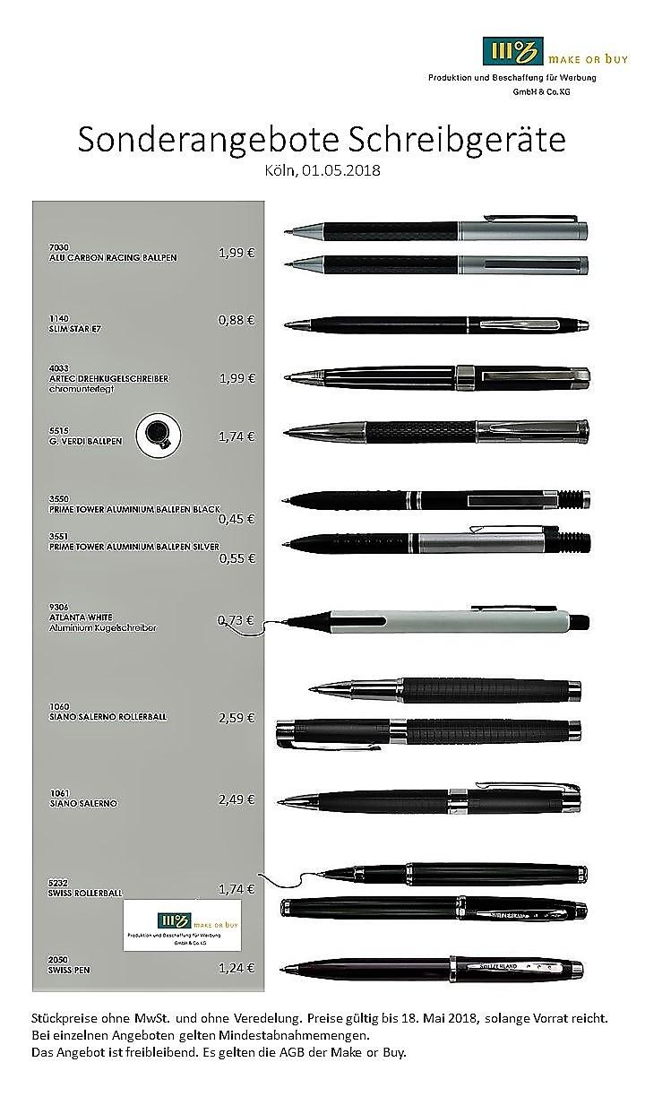 Sonderangebote Schreibgeräte Ab 045
